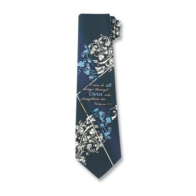 I Can Do All Things Silk Tie   -