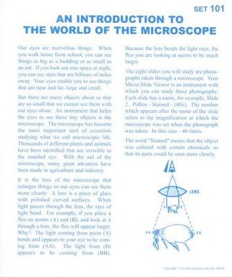 An Introduction to the World of the Microscope, Microslide Lesson Set  -
