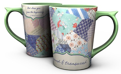 Redeemed Patchwork, Psalm 29:11 Mug  -