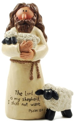 Jesus with Sheep, The Lord Is My Shepherd  -