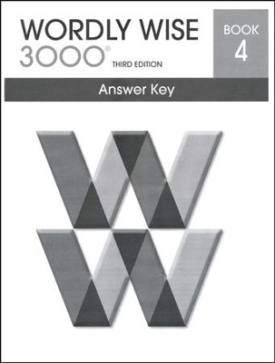 Wordly Wise 3000 3rd Edition Answer Key Book 4  -