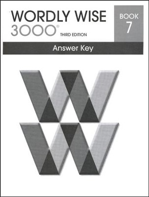 Wordly Wise 3000 3rd Edition Answer Key Book 7  -
