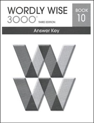 Wordly Wise 3000 3rd Edition Answer Key Book 10  -