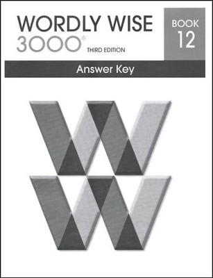 Wordly Wise 3000 3rd Edition Answer Key Book 12  -