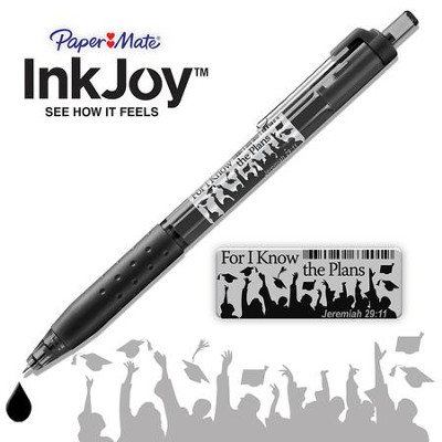 For I Know the Plans Pen, Jeremiah 29 11, Black  -