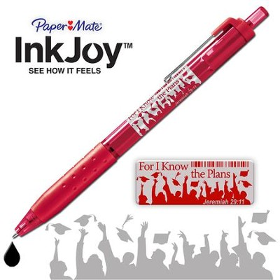 For I Know the Plans Pen, Jeremiah 29 11, Red  -