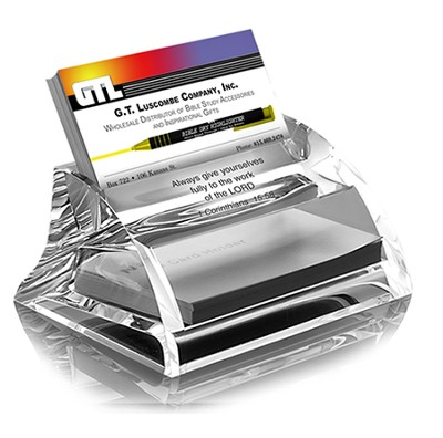 Acrylic Business Card Holder, Always Give Yourself To the Lord  -