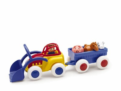 Midi Chubbies 8 In. Tractor & Trailer with Animals  -