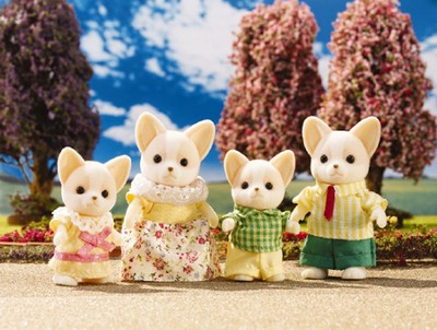 Calico Critters Chihuahua Dog Family  -