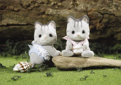 Calico Critters Fisher Cat Twins  -