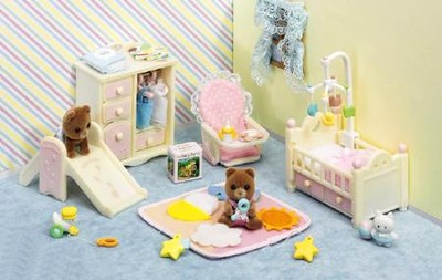 Calico Critters Baby's Nursery Set  -