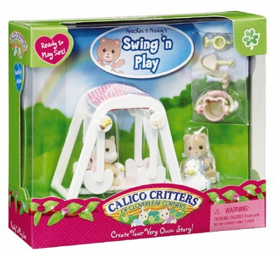 Calico Critters Peaches & Freddy's Swing 'n Play  -