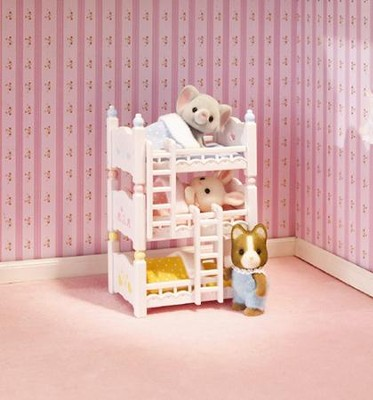 Calico Critters Triple Baby Bunk Beds  -