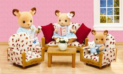 Calico Critters Living Room Suite  -