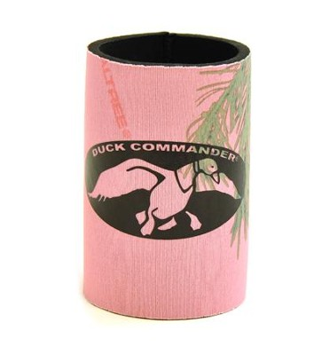 Duck Commander Faith, Family Ducks, Can Cooler, Brown / Pink Duck Commander Series   -