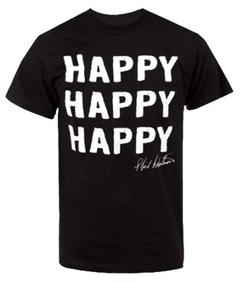 Happy Happy Happy Shirt, Black, Medium   -