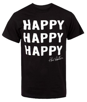 Happy Happy Happy Shirt, Black, X-Large   -