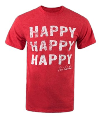 Happy Happy Happy Shirt, Red, Medium   -