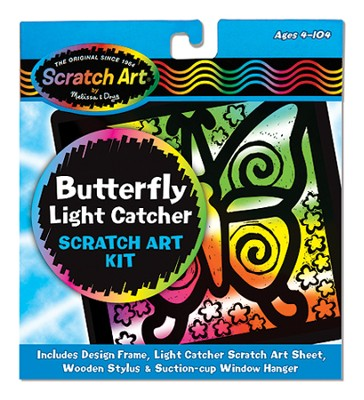 Scratch Art Butterfly  -