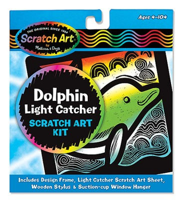 Scratch Art Dolphin  -