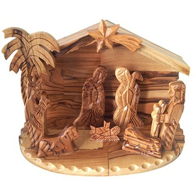 Table Top Nativity, Scalloped Edges  -
