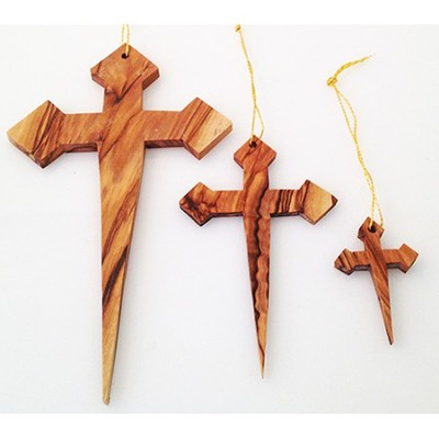 Nail Cross Ornaments, Set of 3  -