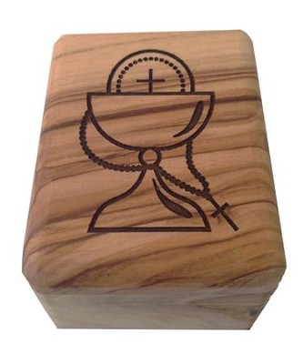 Olive Wood Box, First Communion  -