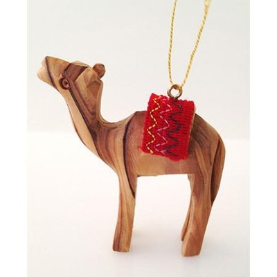 Camel with Red Saddle Ornament  -