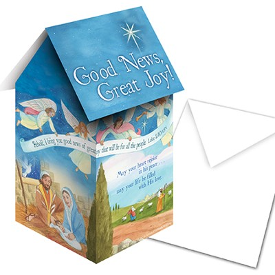 Good News Great Joy 3D Pop Up Gift Card  -