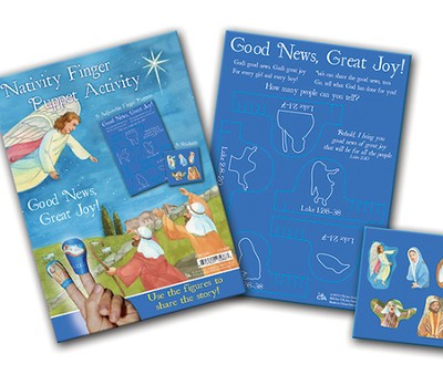 Nativity Finger Puppet Activity  -