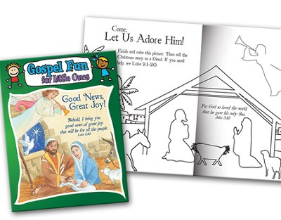 Good News Great Joy, Gospel Fun for Little Ones Activity Book  -