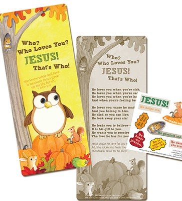 Who Loves You Activity Bookmark with Stickers  -