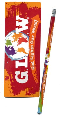 God Lights Our World Pencil and Bookmark  -