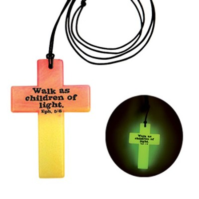 God Lights Our World, Glow In the Dark, Multi Colored Necklace  -