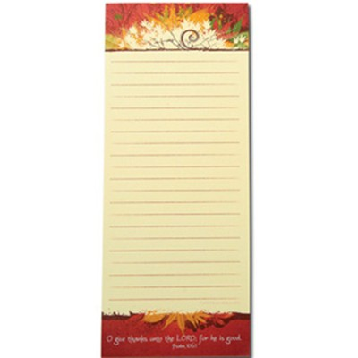 Give Thanks Magnetic Shopping List  -