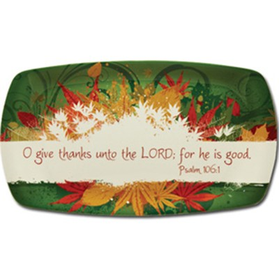 Give Thanks Melamine Tray  -