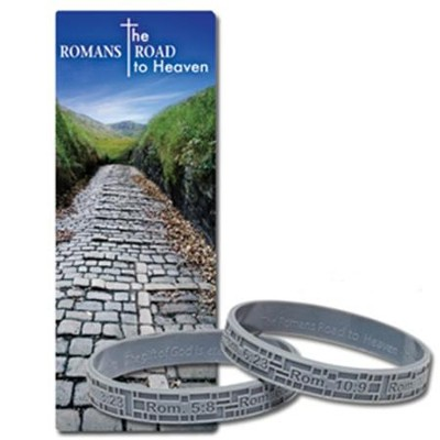 Romans Road to Heaven Bookmark with Silicone Bracelet  -