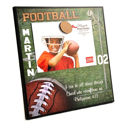 Personalized, Magnetic Photo Frame, Football   -