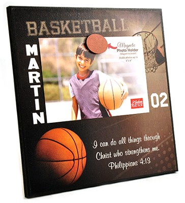 Personalized, Magnetic Photo Frame, Basketball   -