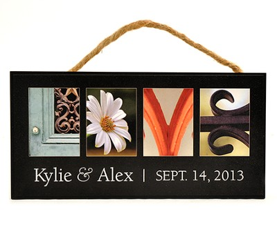 Personalized, Hanging Sign, Love   -