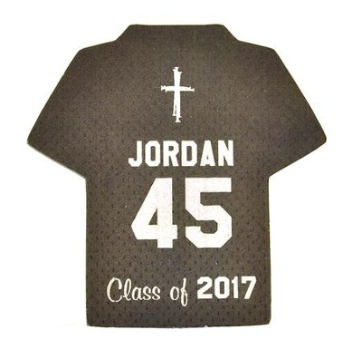 Personalized, Jersey Magnet, Graduation, Boy, Grey   -