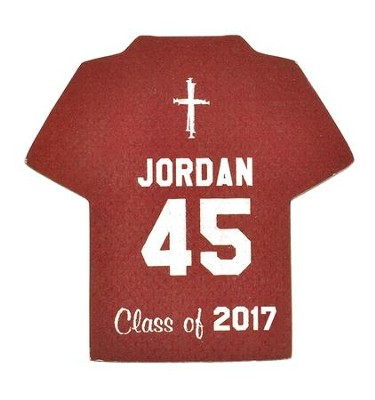Personalized, Jersey Magnet, Graduation, Boy, Burgundy   -