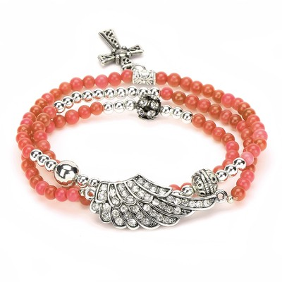 Wrap Cross Bracelet, Orange  -