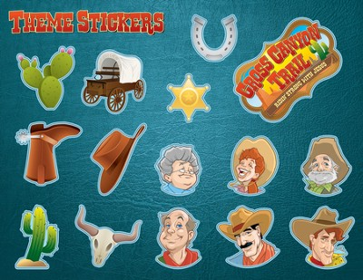 Theme Stickers, 10 sheets  -