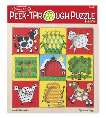 Farm Peek-Through Puzzle, 9 Pieces  -