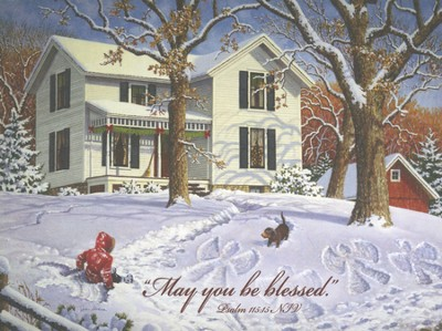 May You Be Blessed, Christmas Note Card Box  -