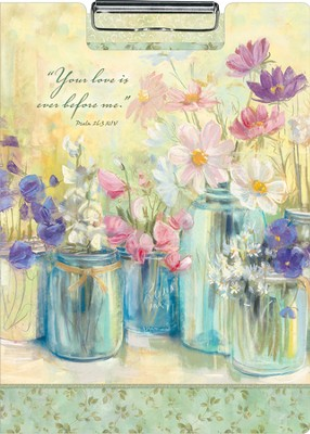 Flowers in Jars--Portfolio Clipboard   -
