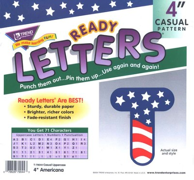 Americana 4 Ready Letters  -