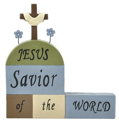 Jesus Savior Of the World, Block Figure  -
