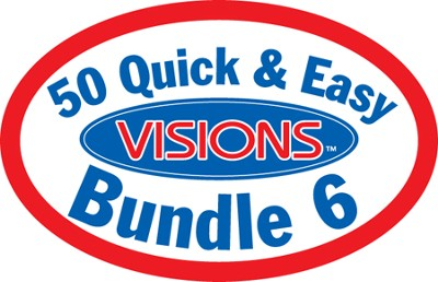 50 Quick and Easy Visions Bundle (6 CD-Roms & 6 Books)   -     By: Tammy Worcester